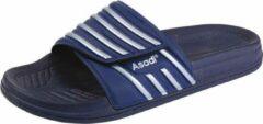 Asadi | 6365 Badslipper PVC | Maat 44 | Blauw