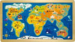 """Witte SFC Toys Houten puzzel - Frame Puzzel """"Wereldkaart"""" - Kinderpuzzel 3 jaar"""