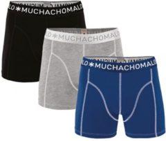 Muchachomalo Basiscollectie Jongens Boxershorts - 3 pack - Blauw/Grijs/Zwart - 122/128
