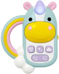 Paarse Skip hop Zoo Unicorn Telefoon Grijpspeelgoed