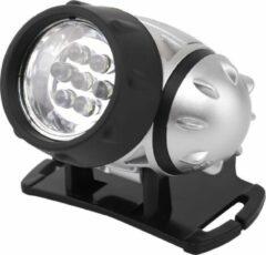 Quano LED Hoofdlamp - Igory Heady - Waterdicht - 20 Meter - Kantelbaar - 7 LED's - 0.54W - Zilver | Vervangt 6W