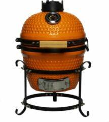 """Patton Kamado Keramische Houtskoolbarbecue - 13"""" - Grilloppervlak Ø 28 cm - Met Handvatten - Oranje"""