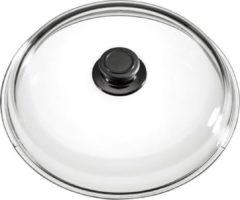 Roestvrijstalen Eurolux by Solinger Eurolux glazen deksel met knop 26 cm