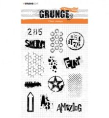 Studio Light Grunge Clear Stamps Backgrounds
