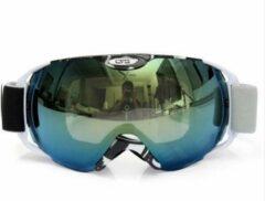 Improducts Skibril met lens zwart groen evo frame zwart wit X type 4 - ☀/☁