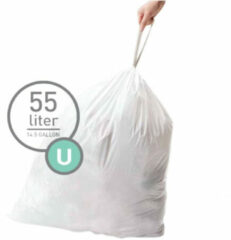 Simplehuman Afvalzakken Code U - 55 Liter (60 stuks)