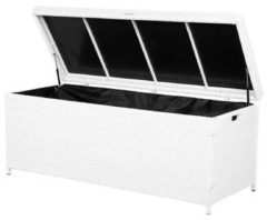 Beliani Kussenbox wicker wit 158 x 63 cm MODENA