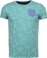 Black Number Blader Motief Summer - T-Shirt - Groen Blader Motief Summer - T-Shirt - Groen Heren T-shirt Maat S