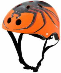 Oranje Mini Hornit Lids Fietshelm Voor Kinderen - Met Led Achterlicht - Chiller Spider (S)