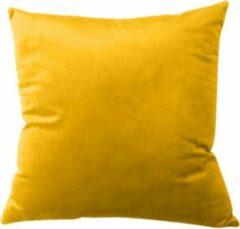 TAQI Velvet Terracotta Kussenhoes-Sier Kussensloop - Fluweel - Super Zachte Korte Fleece- 45 x 45 cm - Oranje Geel