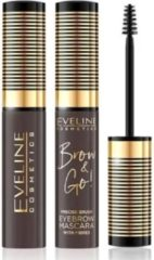 Bruine Eveline - Brow & Go! Eyebrow Mascara Eyebrow Mascara 02 Dark 6Ml