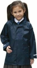 Result Regenjas winddicht navy blauw voor meisjes - Regenpak - Regenkleding voor kinderen S (110-116)