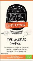 Royal Green Royal groen / Turmeric Geelwortel Kurkuma Complex - Biologisch - 60 vcaps
