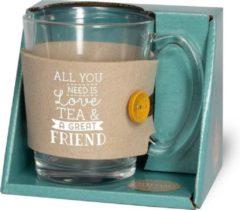 Miko Tijd voor thee - Theeglas - Friends