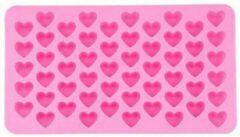 BukkitBow Ijsblokjes mal | siliconen vorm | hartjes | 55 ijshartjes | roze | Chocoladevorm | Gelatinevorm