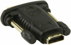 Gouden König Valueline DVI - HDMI adapter DVI mannelijk - HDMI input zwart