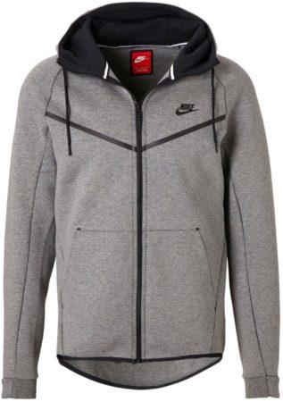 Afbeelding van Grijze Nike Sportswear Tech Fleece Windrunner Sweatvest Sporttrui - Maat S - Mannen - grijs