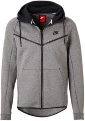 Grijze Nike Sportswear Tech Fleece Windrunner Sweatvest Sporttrui - Maat S - Mannen - grijs
