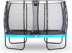 Exit Elegant Premium Trampoline Met Veiligheidsnet Deluxe Rechthoekig - 244 X 427 Cm - Blauw