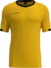 Jartazi Sportshirt Roma Junior Polyester Okergeel/zwart Maat 134/140
