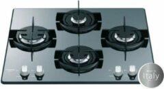 Hotpoint-Ariston HOTPOINT FRDD 642 HA (ICE) Gaskookplaat-4 open haarden-7,3kW-L60 x D 51cm - Glascoating - Zwart