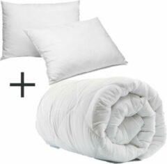 Witte Homéé® Select Duopack - 1x Hotel dekbed 3dTEX enkel 400g. 200x200 cm plus 2 x hotel hoofdkussen classic 60x70 cm