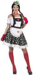 Beige Funny Fashion Boeren Tirol & Oktoberfest Kostuum | Ischgl Tiroler Edelweiss Rok En Bretels | Vrouw | Maat 40-42 | Bierfeest | Verkleedkleding