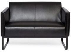 Hjh OFFICE Lounge Sofa BALI BLACK mit Armlehnen