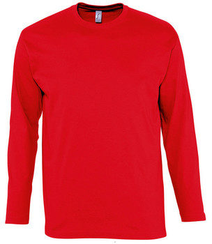 Afbeelding van Rode T-Shirt Lange Mouw Sols MONARCH COLORS MEN
