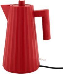 Alessi Plisse Waterkoker MDL06 R, rood