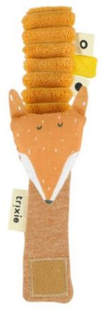 Afbeelding van Trixie Baby Accessoires Wrist rattle - Mr. Fox Oranje
