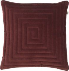 Bordeauxrode Dutch Decor Sierkussen Bronno 45x45 cm bordeaux