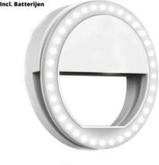 Witte Orange85 - Selfielight ring - Selfies in het donker - Incl. batterijen