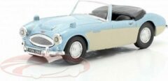 Austin Healey Convertible Open Top Licht Blauw Metallic / Room Wit 1:43 Cararama