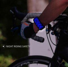 Merkloos / Sans marque Sportarmband/ reflector/ Led ( Blauw)/ Sport