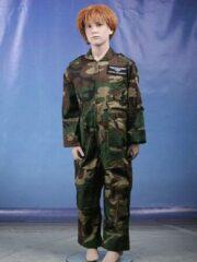 Groene Merkloos / Sans marque Camouflage kinder overall 146-152 (L)