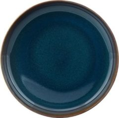Blauwe GALLO by Villeroy & Boch Group LIKE BY VILLEROY & BOCH GROUP - Crafted Denim - Diep bord 21,5cm