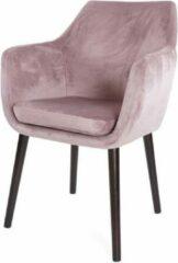 Lisomme eetkamerstoel Lois - Fluweel - Roze