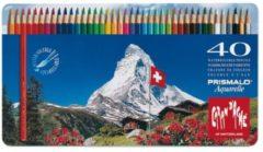 Alles Voor Kleuren Kleurpotloden Caran d'Ache Prismalo Aquarel doos á 40 stuks