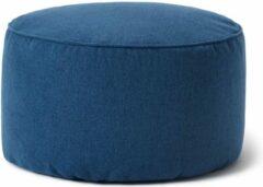 Lumaland Comfort Line Indoor Poef Beanbag Hocker Stool - 45cm x 25cm - Donkerblauw