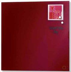 Glasmagneetbord Naga rood