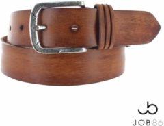 JOB86 - Trendy lederen jeansriem - Cognac - 95 cm