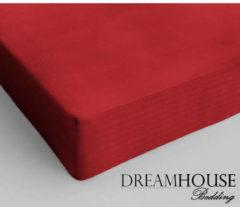Rode Dreamhouse bedding - hoeslaken - katoen - lits-jumeaux - 200x220 cm - rood - twijfelaar (120 cm) - rood