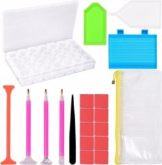 Merkloos / Sans marque Diamond Painting Accessoires - Starterspaket - Voor alle diamond painting liefhebbers