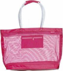 Beco mesh zwemtas/strandtas, roze