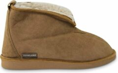 Bruine Texelana sloffen en pantoffels voor dames & heren - pantoffel van schapenvacht - model Frida - maat 43