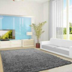 Life Hoogpolig Vloerkleed - Antalya - Rechthoek - Grijs - 120 x 170 cm - Vintage, Patchwork, Scandinavisch & meer stijlen vind je op WoonQ.nl