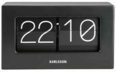 Karlsson - Karlsson Boxed Flip Tafel-/wandklok - Zwart