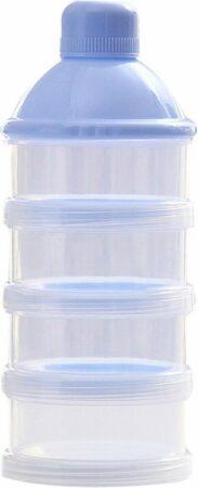 Afbeelding van Elemental GOods Handige Melkpoeder Doos Voor Op Reis - Onderweg - Milk Powder Box - Blauw - Babymelk - Moeder - Voeden - Reizen - Op Reis - Vakantie