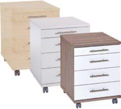 Rollcontainer Bürocontainer Schubladenschrank Büroschrank mit Schubladen Braso 218 VCM Buche